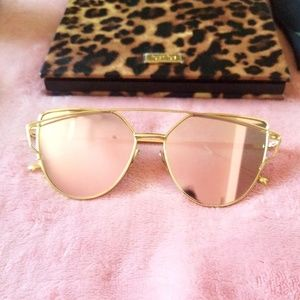 Unknown Accessories - Pink Cat Eye Sunglasses
